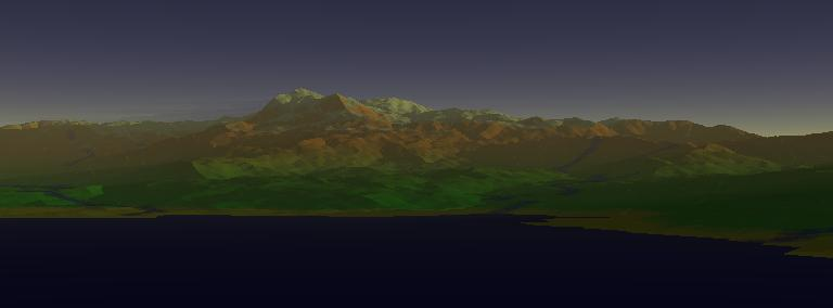 POV-Ray rendered terrain